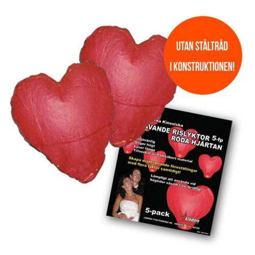 Svävande Hjärtan 5-pack