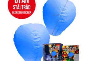 Svävande Rislyktor Blåa 2-pack (Sky Lantern)